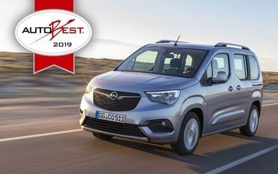 "AUTOBEST: Opel Combo Life eleito ""Best Buy Car of Europe 2019"""
